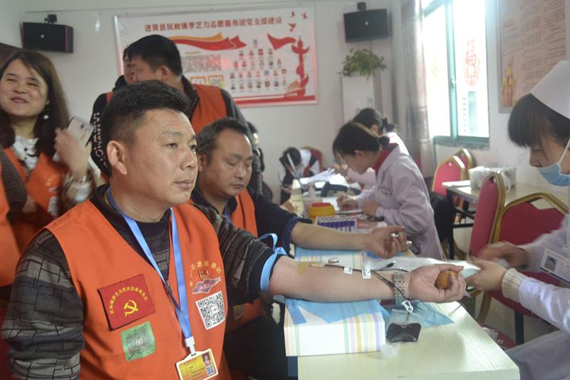 江西:季艺力志愿服务团爱心献血活动