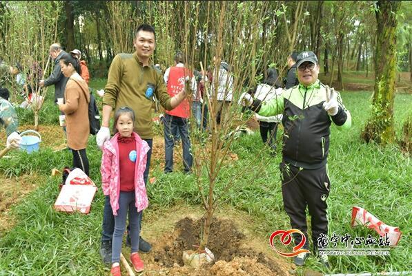 """南宁市连续三年开展""""无偿献血爱心林""""植树活动,为公益注入绿色能量"""