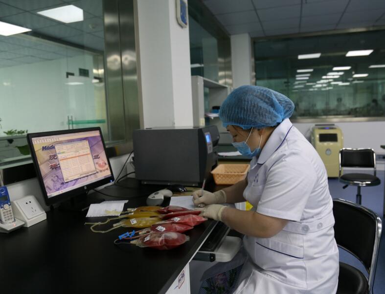 让血液资源得到更加充分应用,宜宾成分输血的比例高达99%以上