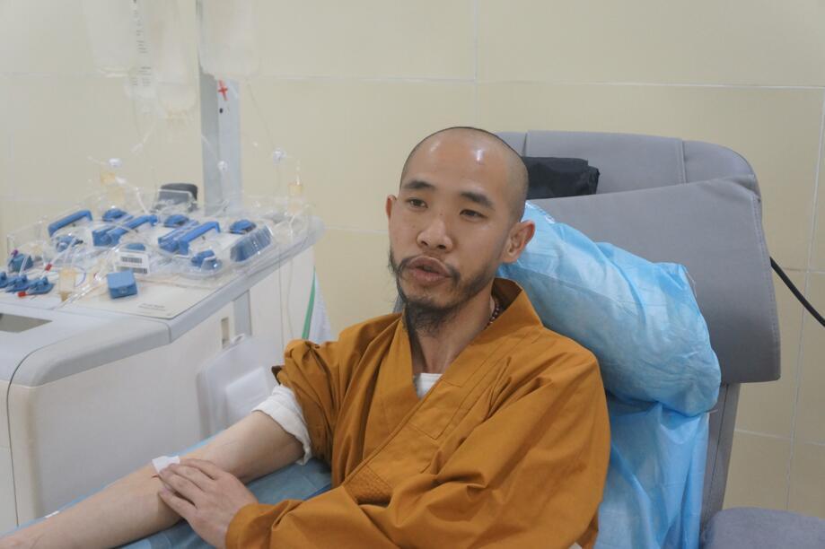 释元空大师回郴州献血 大爱曾播撒全国