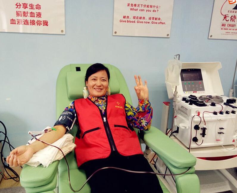 """优秀!我市无偿献血志愿者沈香女当家庭被评选为全国""""最美家庭"""""""