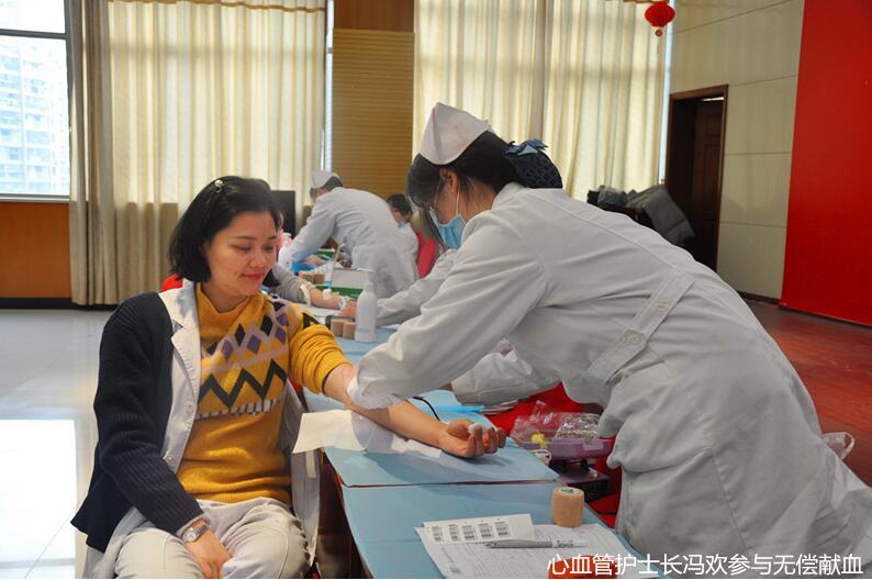 九江市中医院150名医务工作者无偿献血 共保寒冬民众健康