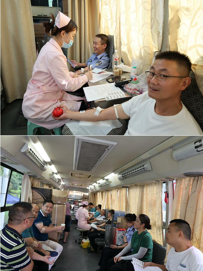 【捐热血,献爱心】九江柴桑区开展团体无偿献血活动