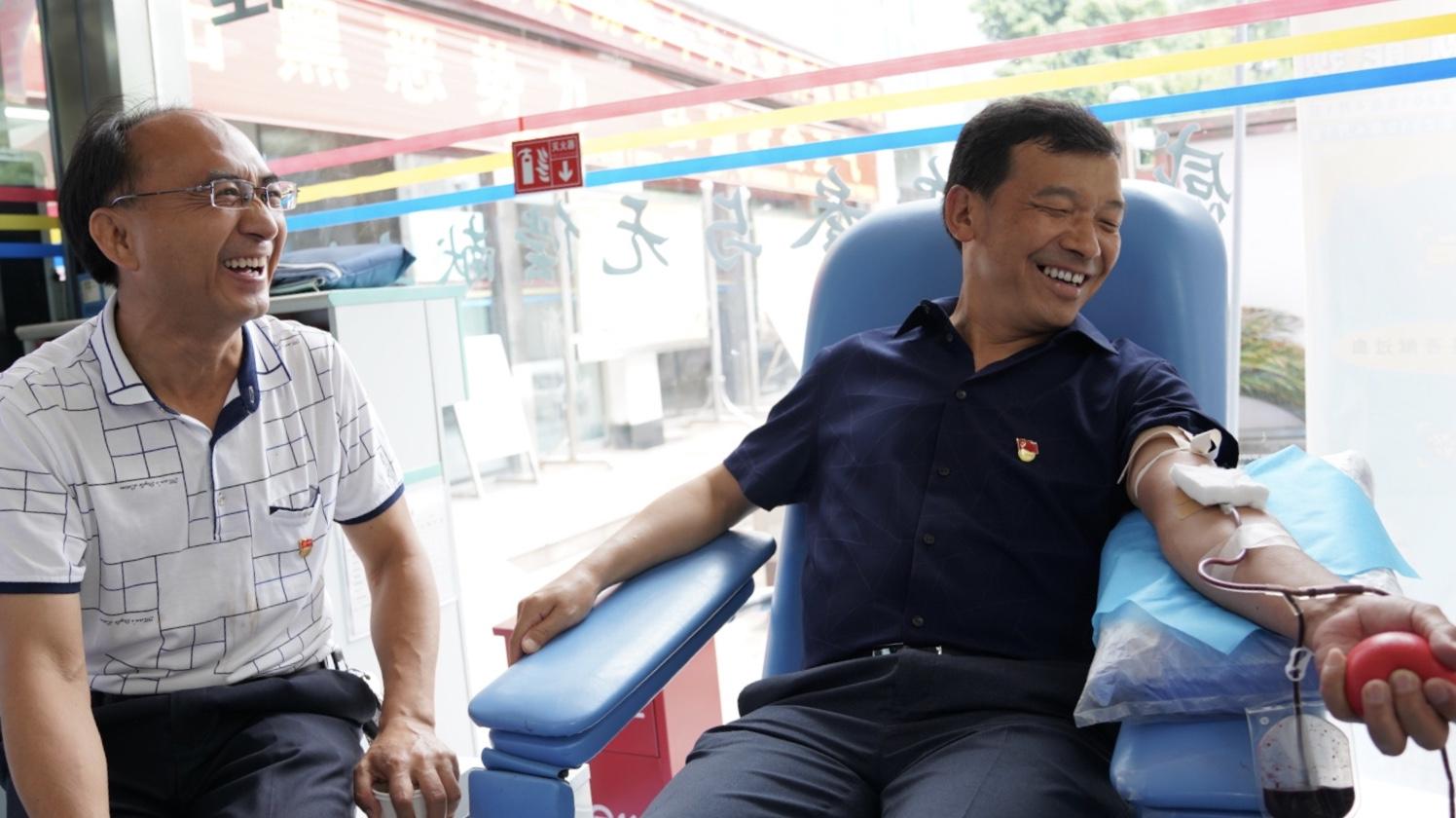 """市卫健委机关党支部开展""""7.1""""无偿献血主题活动"""