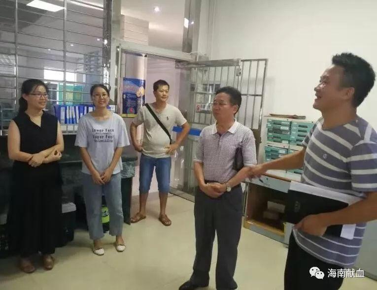 海南省血液中心副主任李儒焕到儋州开展调研指导工作