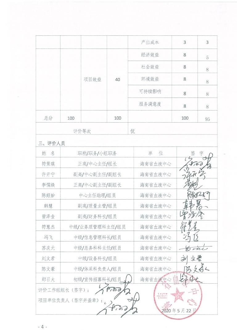 海南省血液中心卫生健康发展专项资金项目绩效评价报告